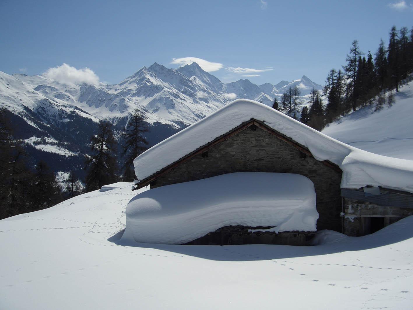 séjour ski hors pistes dans le val d'anniviers