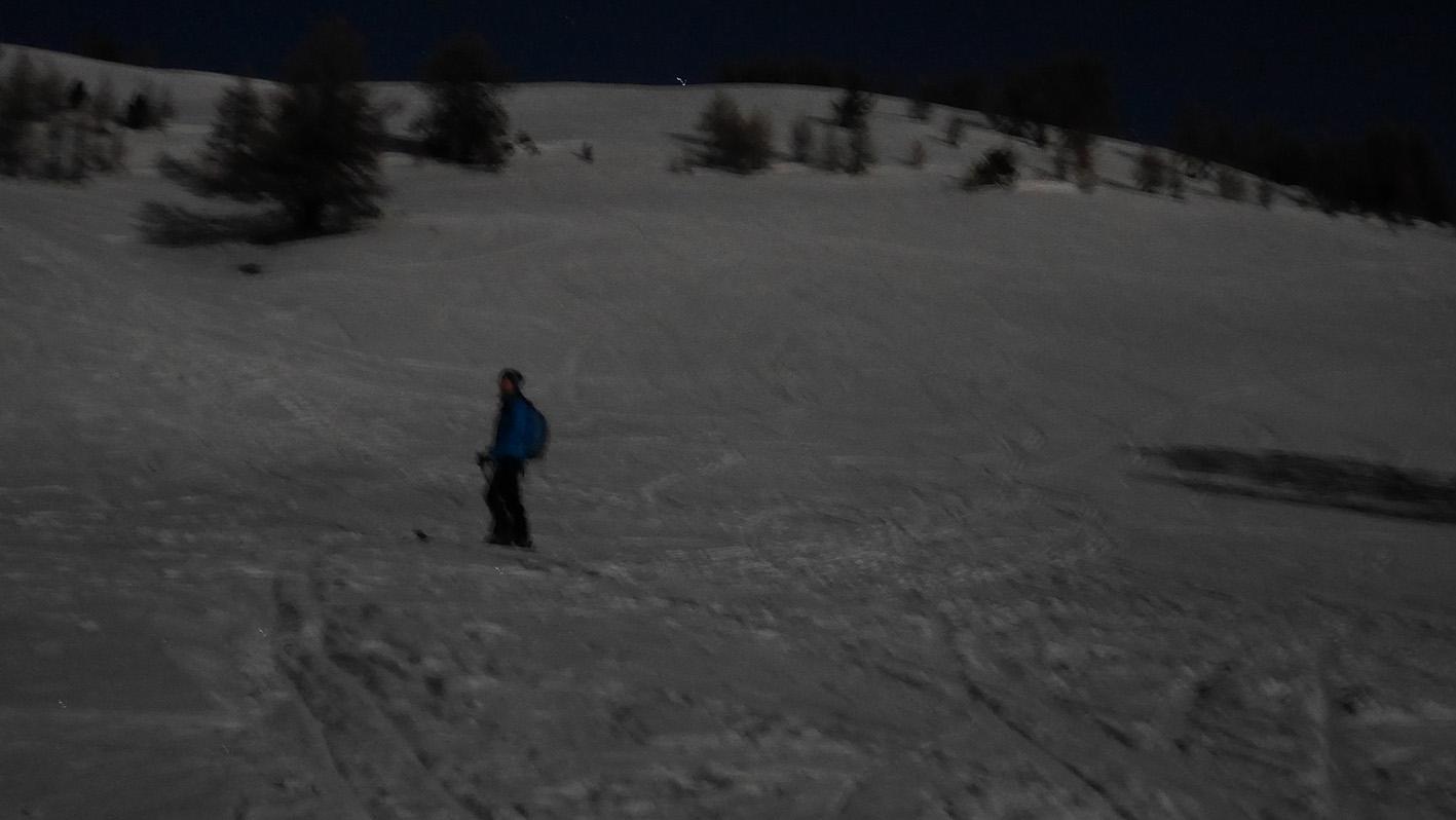 ski de randonnée pleine lune