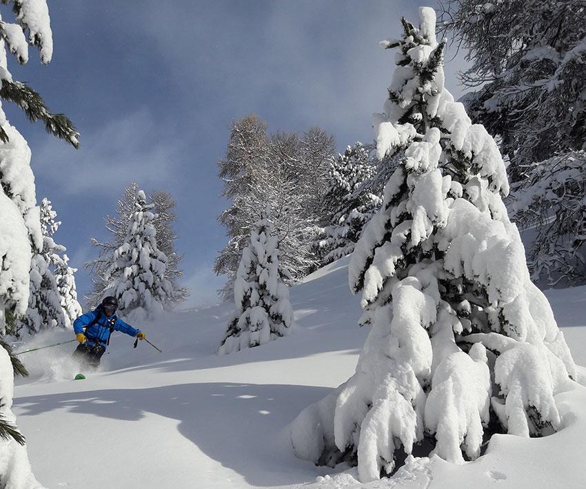 freeride lessons ski school vars