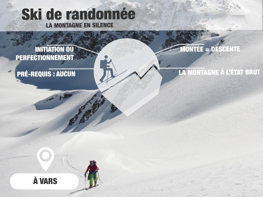 initiation ski de randonnée risoul / vars